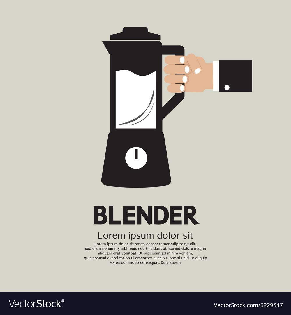 Blender home appliance vector