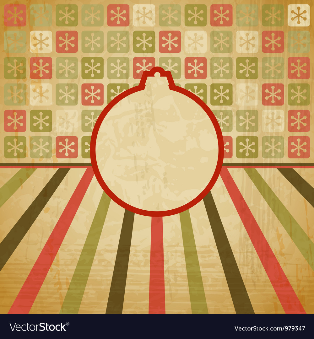Retro christmas bauble background vector