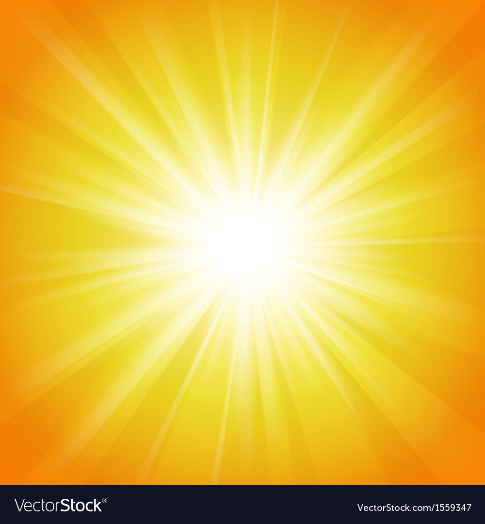 Yellow and orange abstract magic light background vector