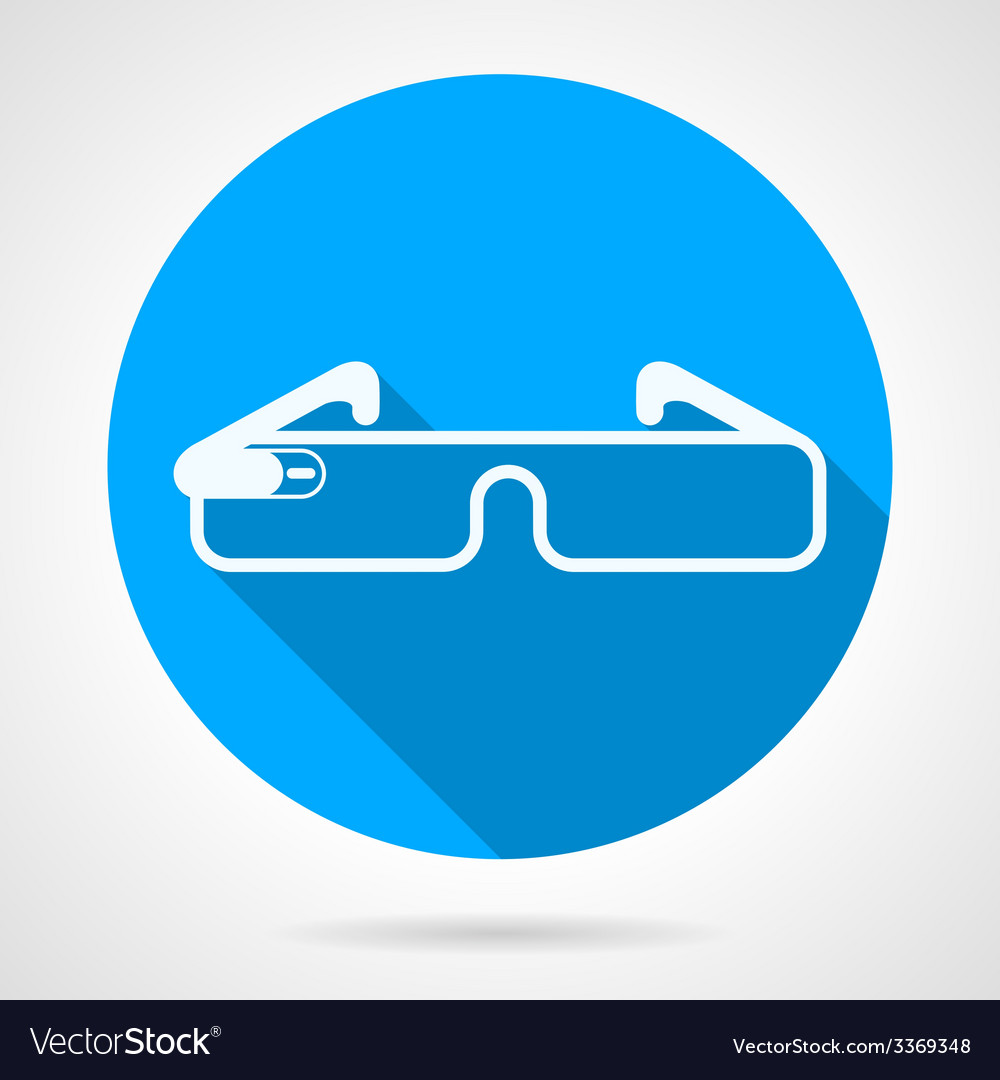 Blue icon for smart glasses vector