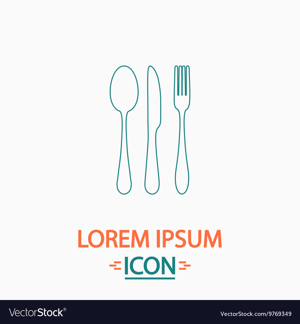 Fork spoon knife computer symbol vector