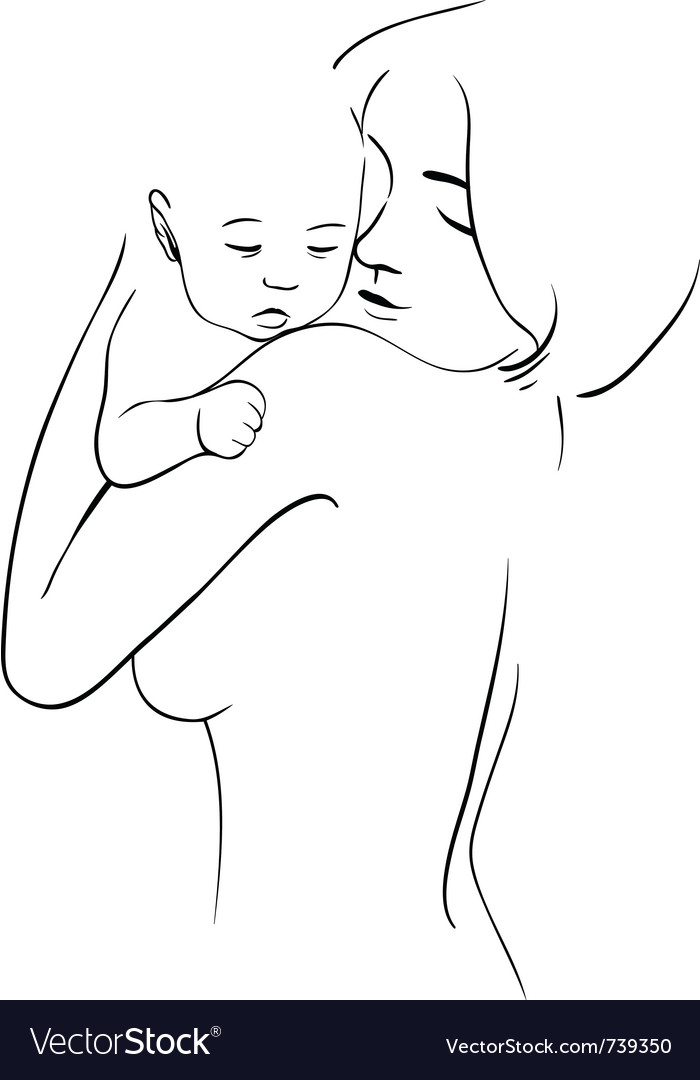 Maternal hug vector