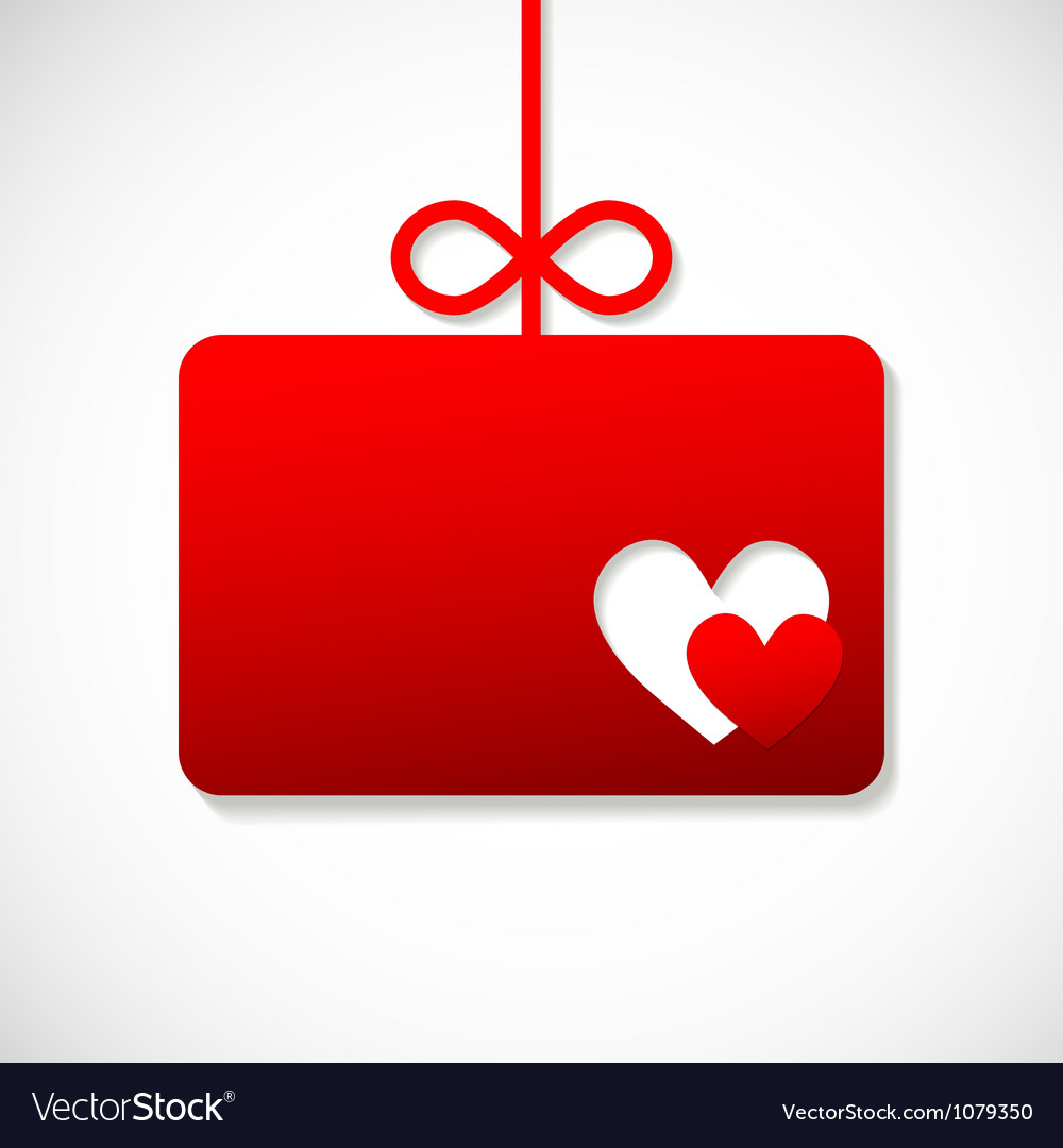 Paper banner by valentins with two hearts vector