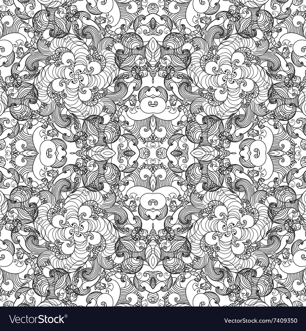 Seamless pattern with vintage ornament background vector