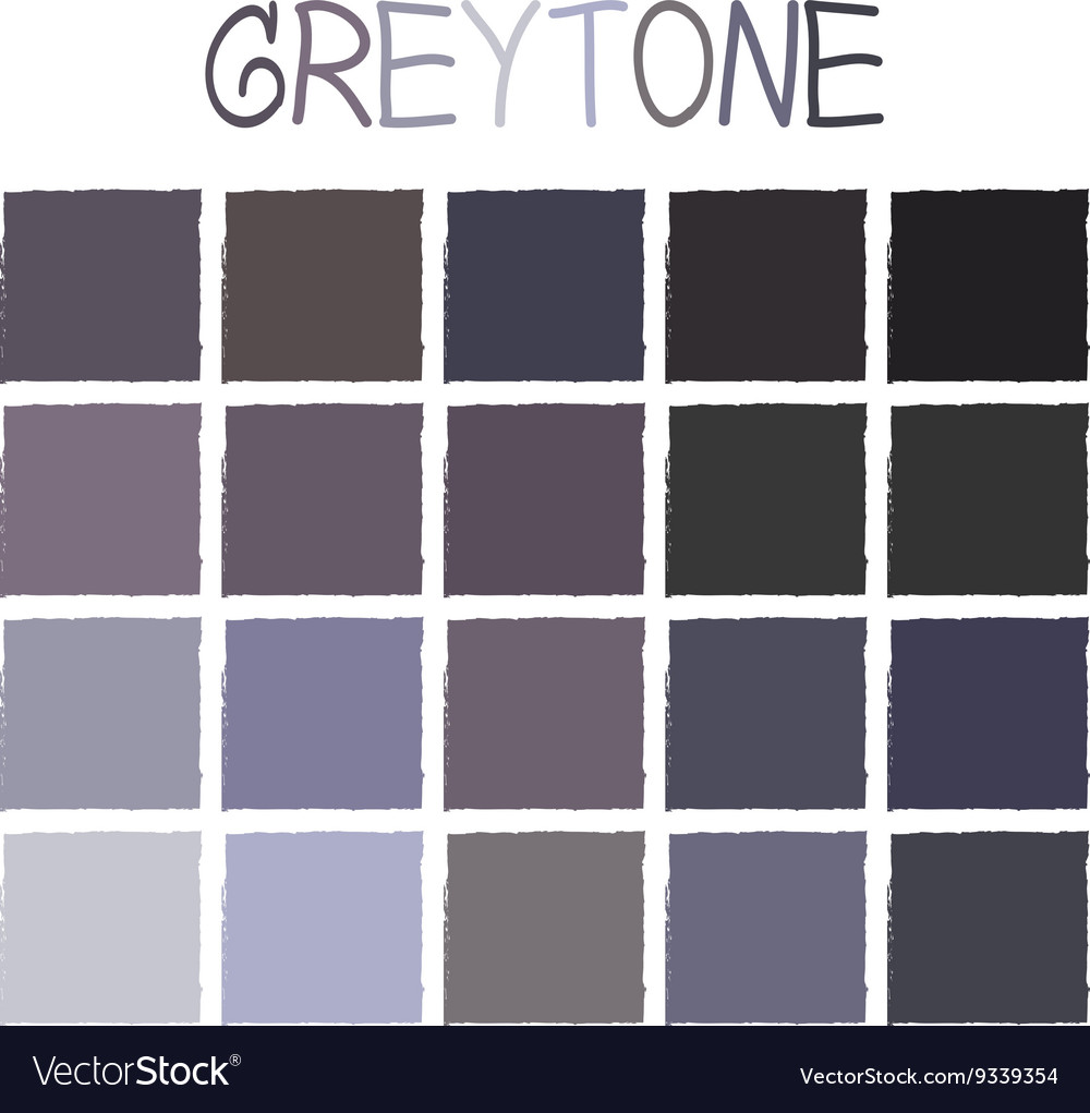 Greytone color tone without name vector