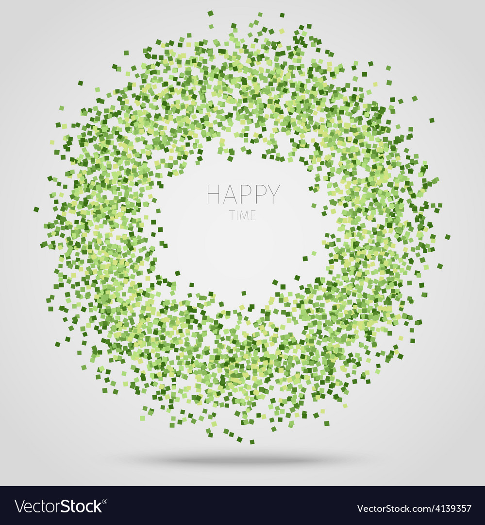 Green square confetti vector