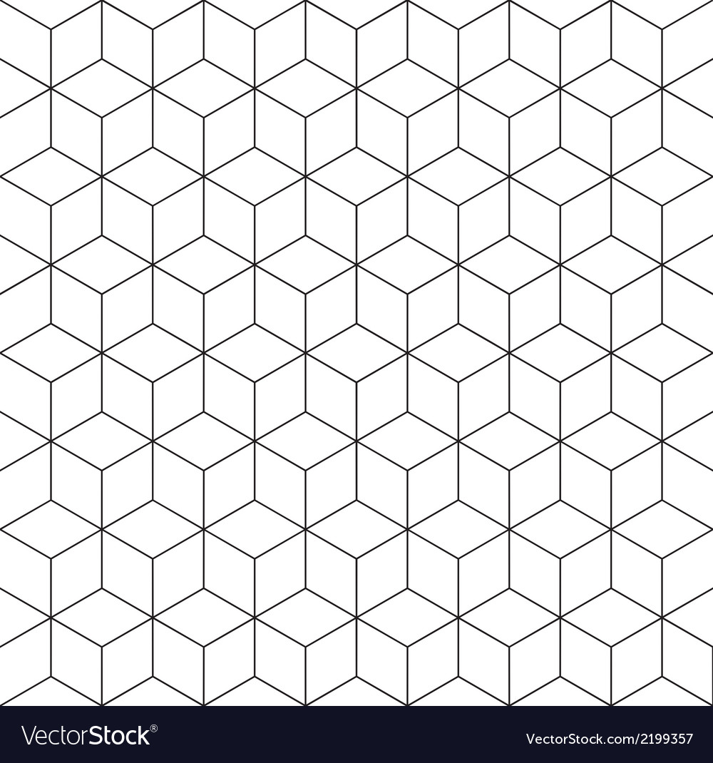 Pattern cube 2 vector