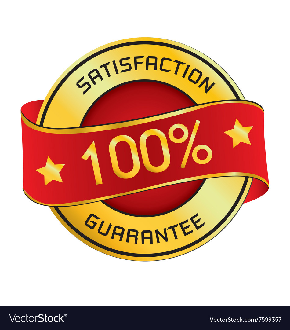 Satisfaction guarantee logo satisfaction vector