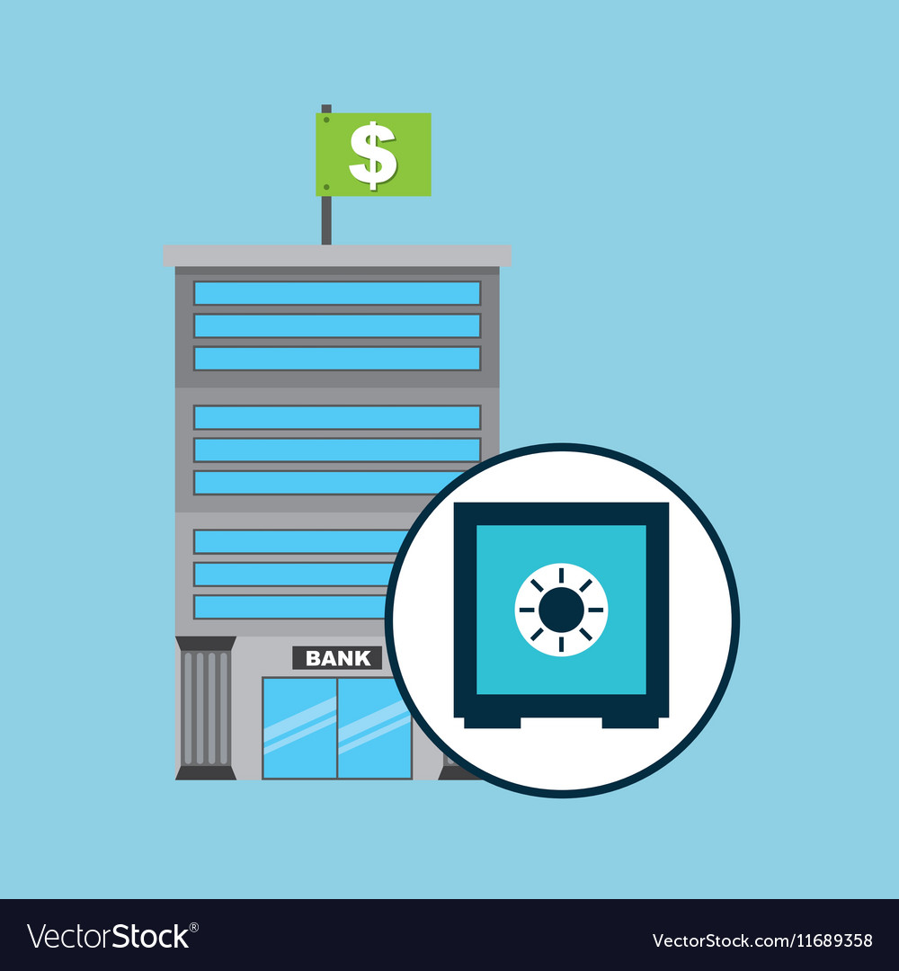 Bank concept service safe box money vector
