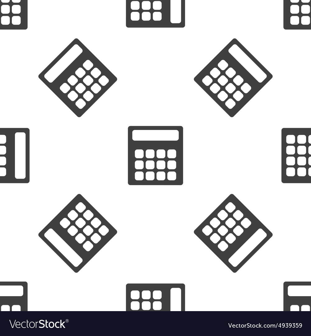Calculator pattern vector