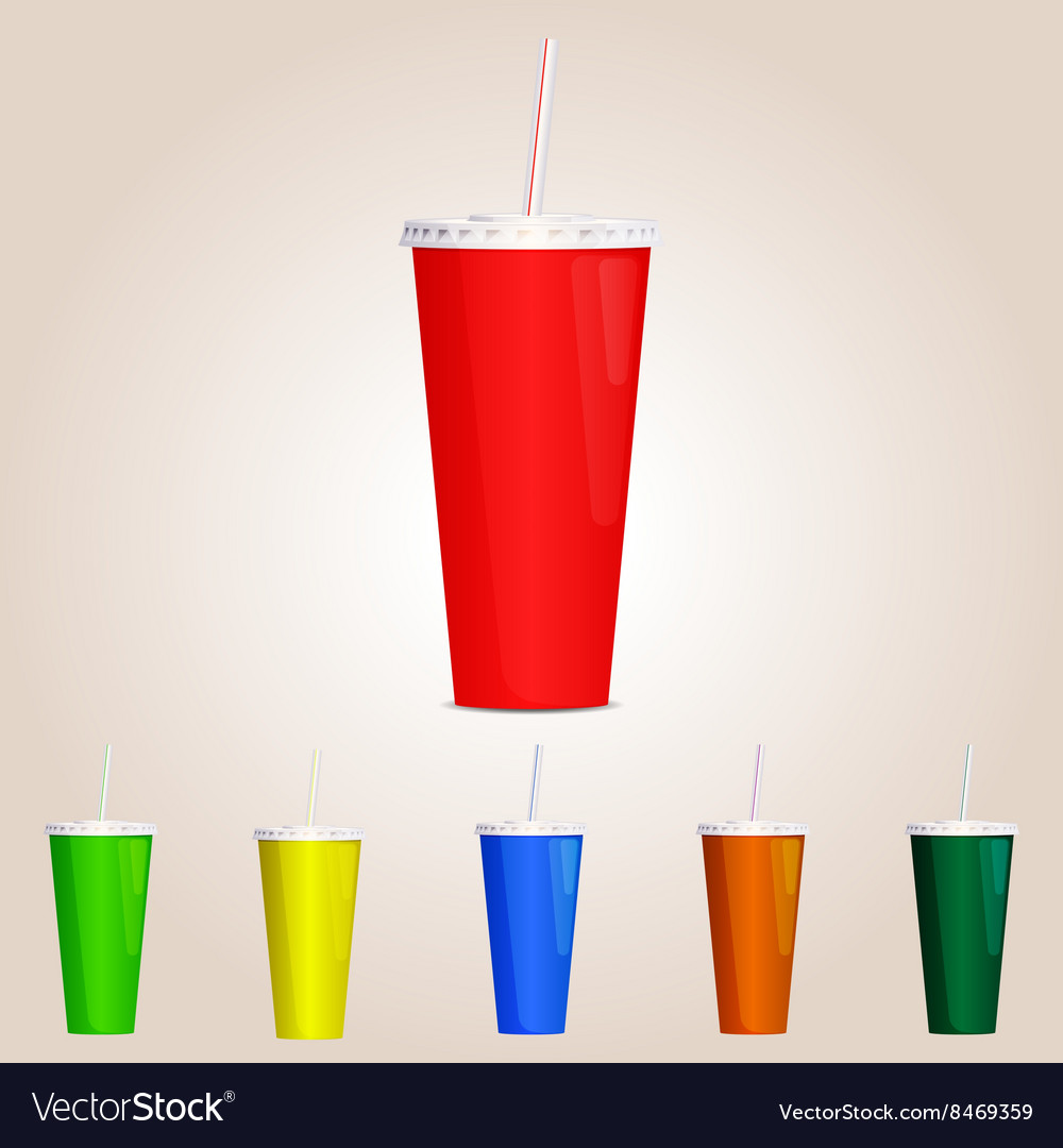 Colored paper cup vector