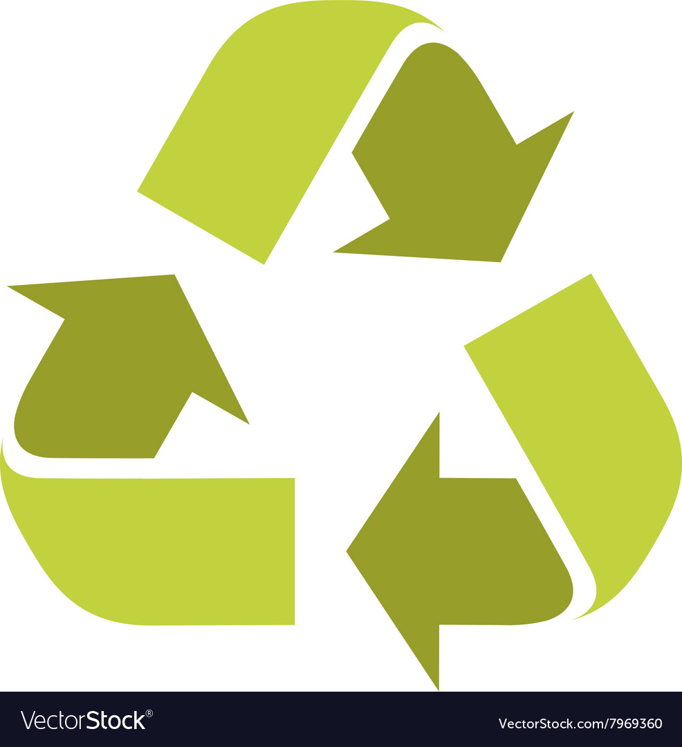 Recycle sign symbol logo vector