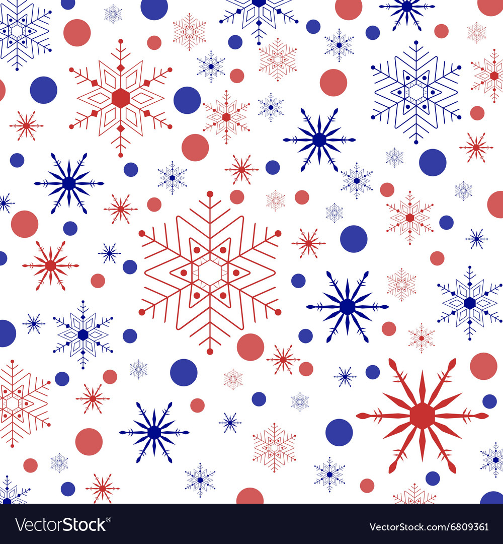 Colored snowflakes and circles vector