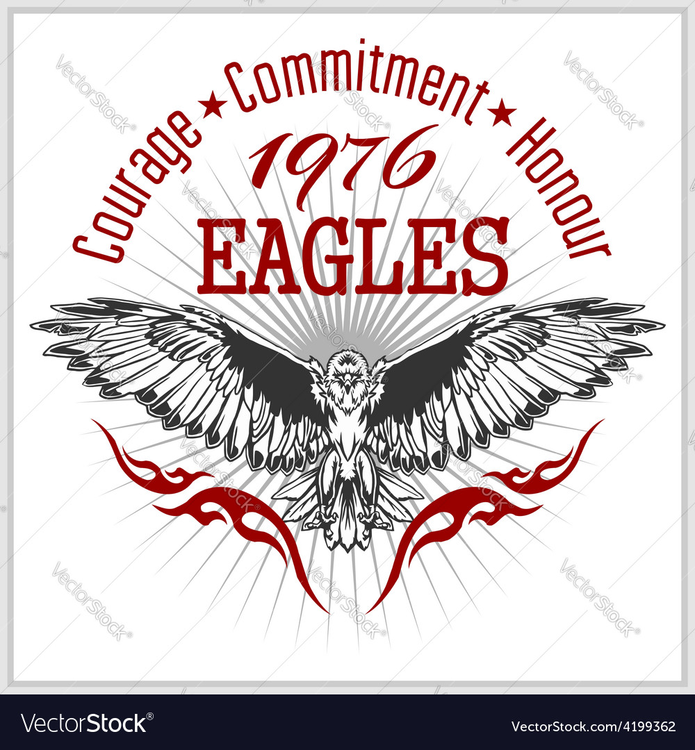 Vintage label eagle  retro emblem vector