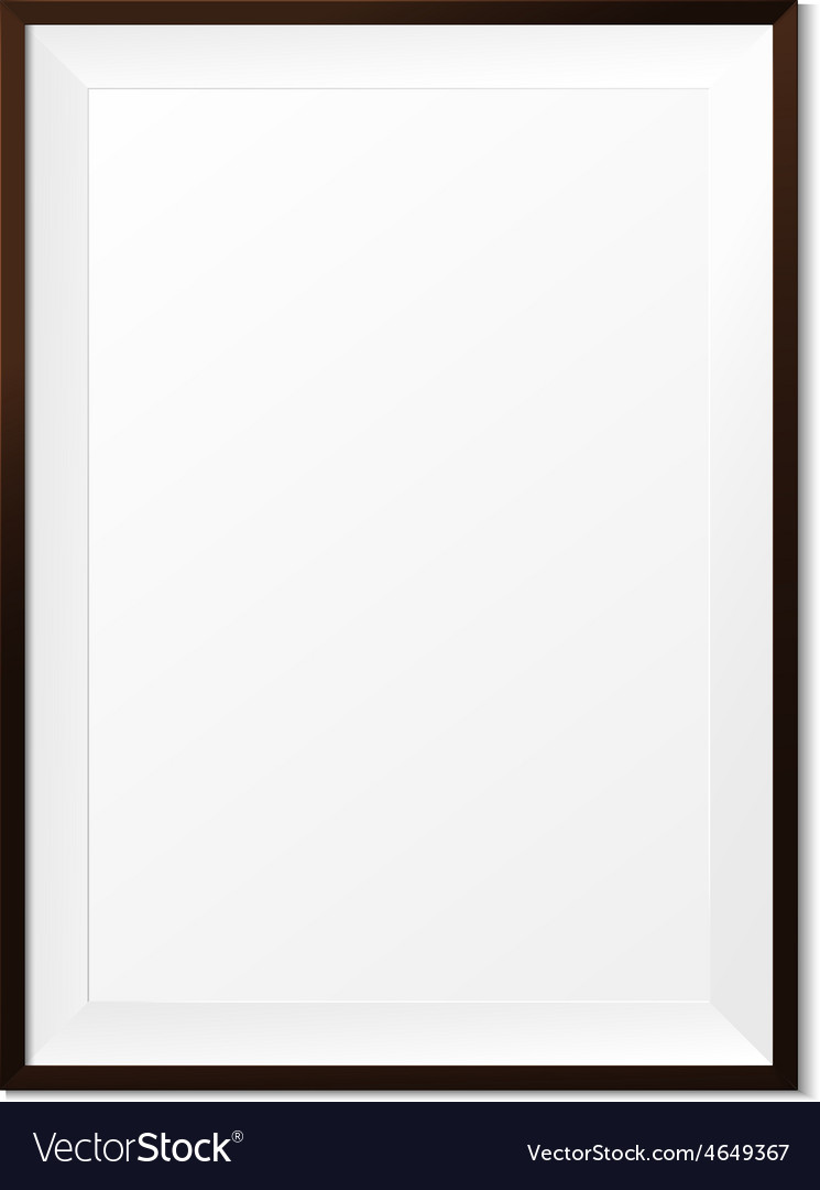Blank wood photo frame on white background eps10 vector