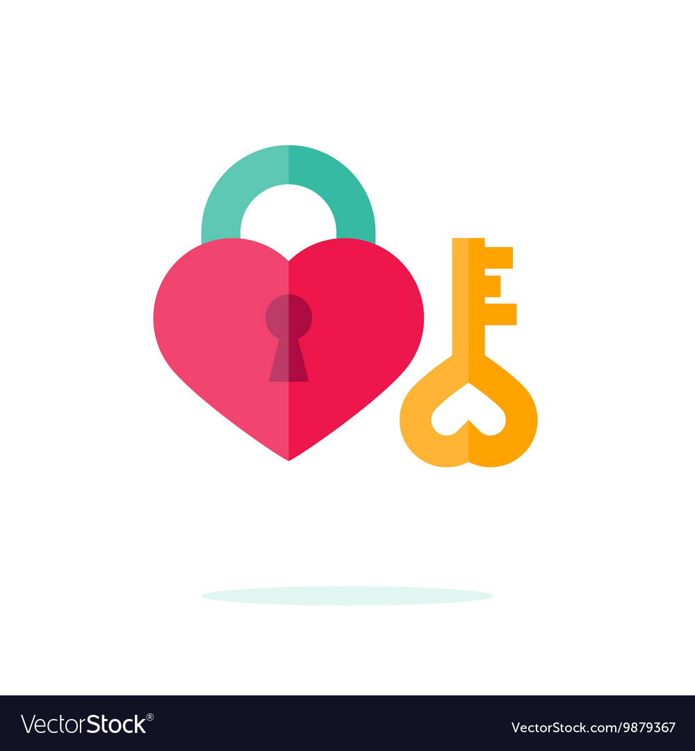 Valentine day icon in flat style vector