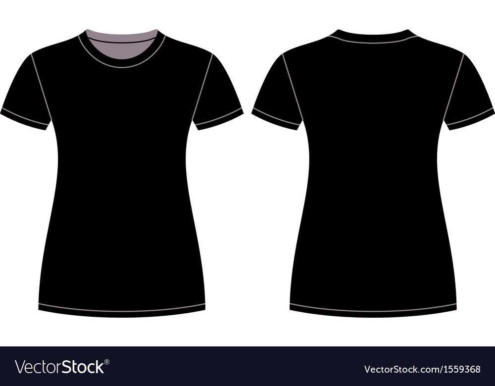 Black tshirt design template vector