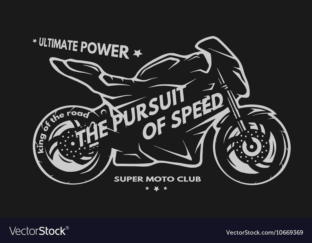 Sport superbike motorcycle vector