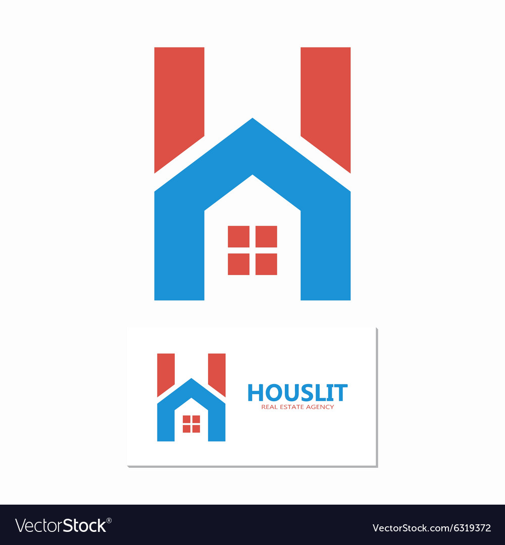 House with letter h logo vector