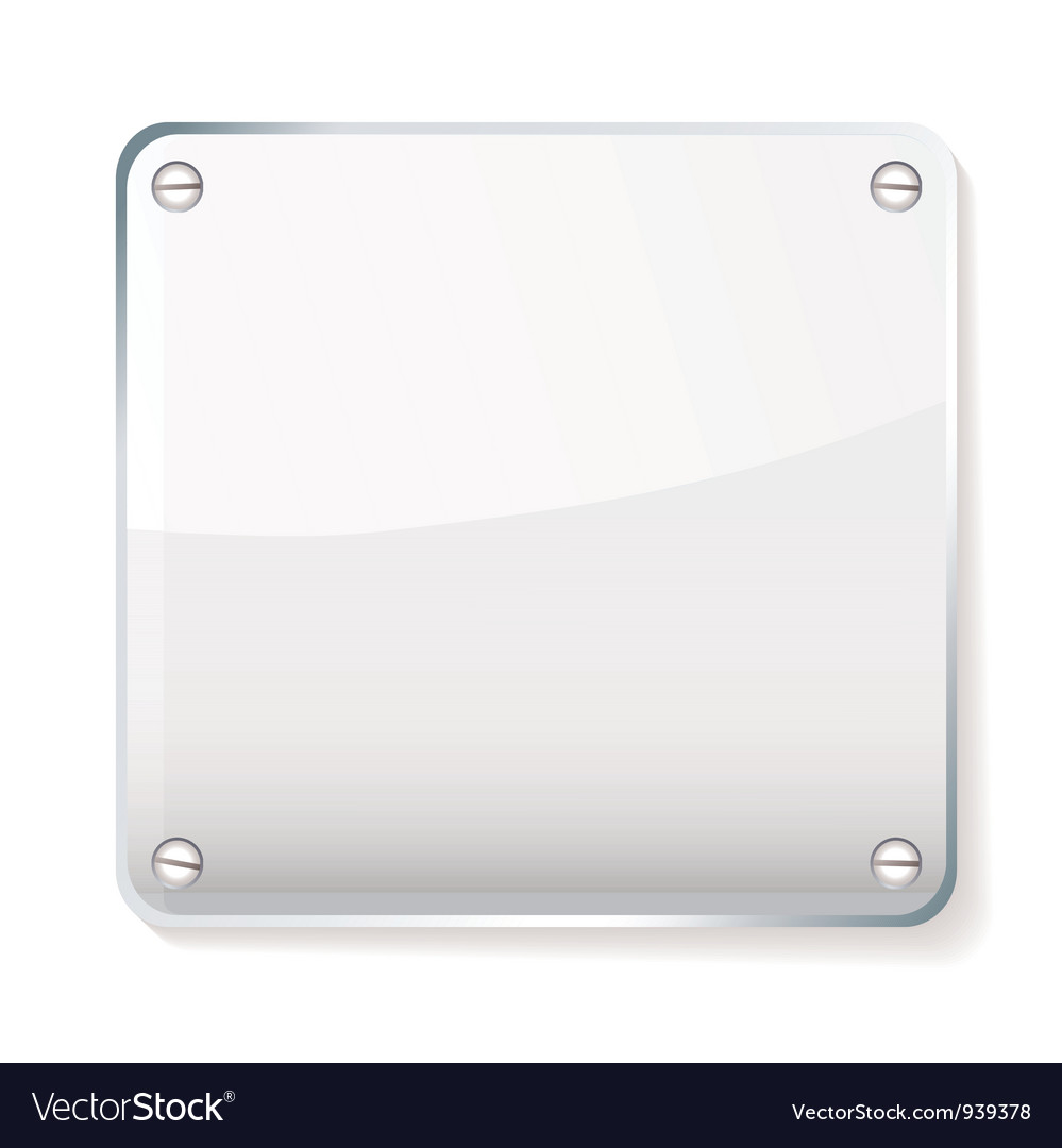 Glass company name plate vector