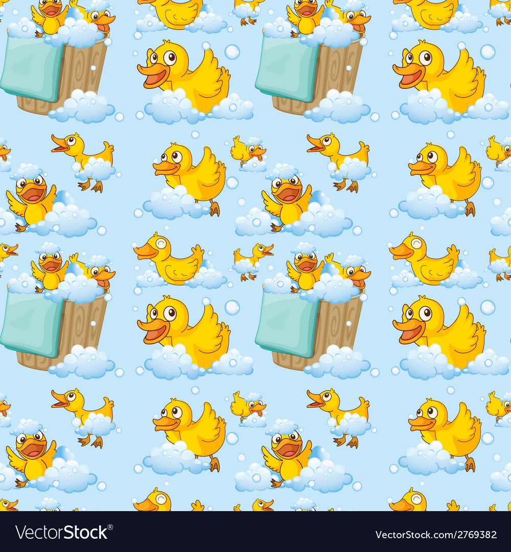 Seamless ducks vector