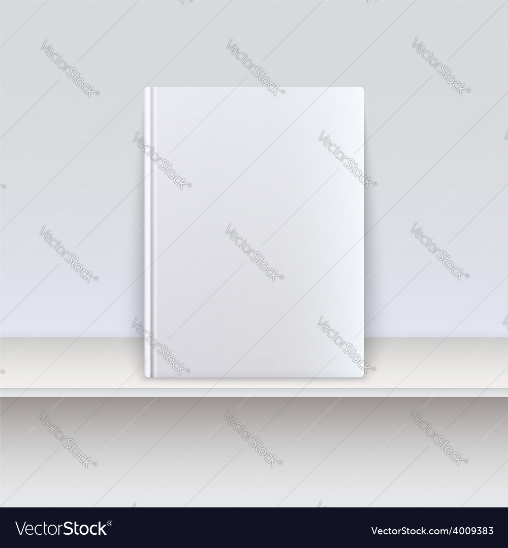 Book cover magazine standing on the shelf vector