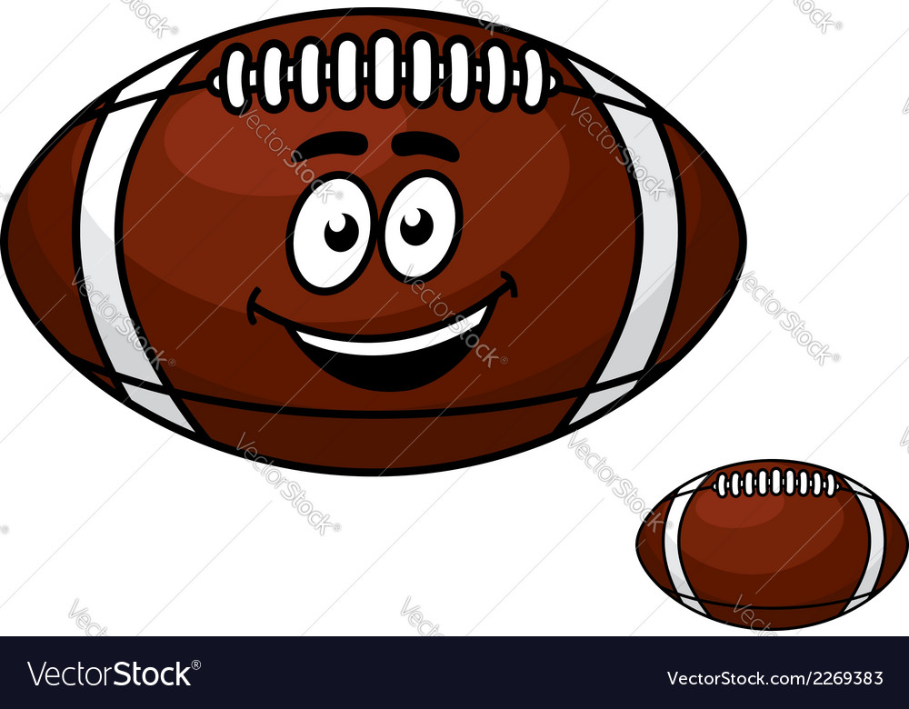 Brown leather football with a happy smile vector