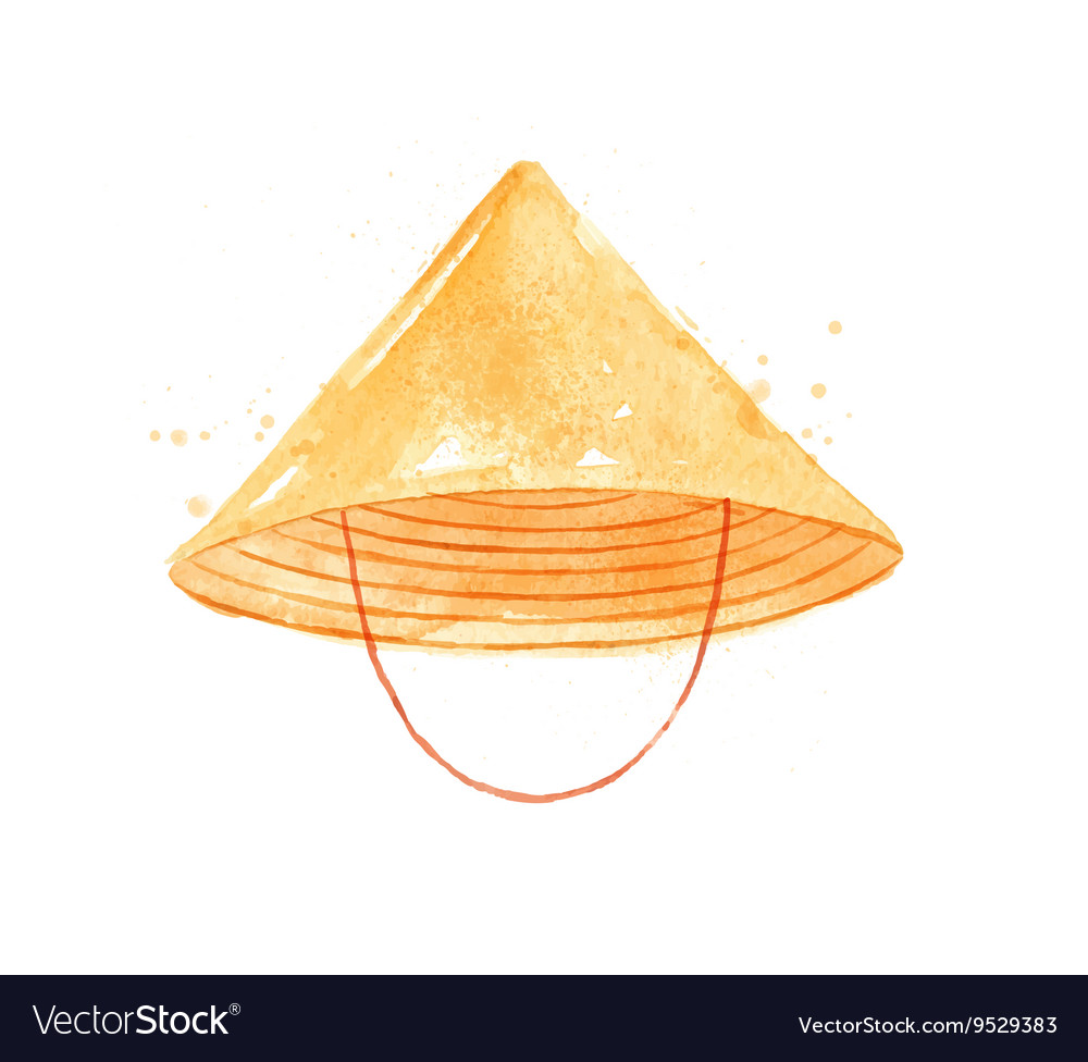 Chinese symbols hat vector