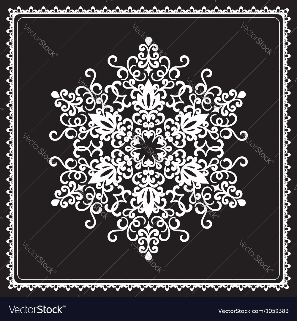 White snowflake vector