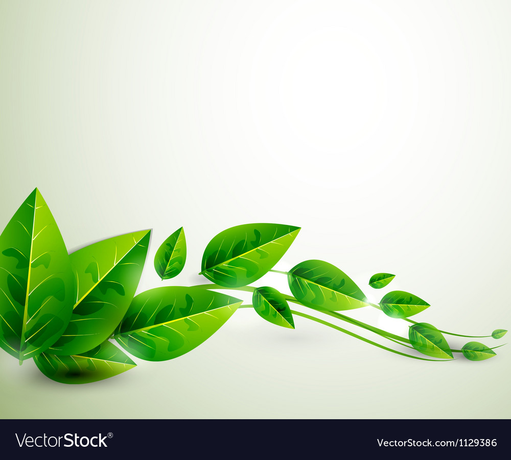 Nature green leaves flying leaves abstract vector