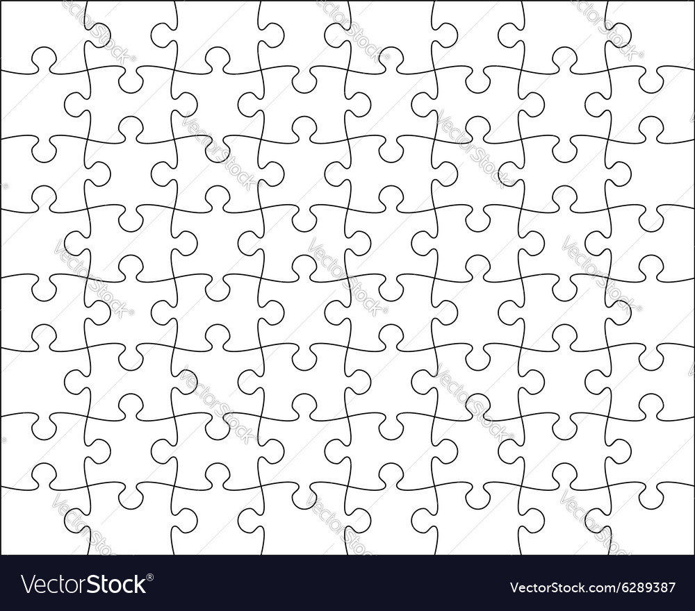 Jigsaw puzzle template editable blend vector