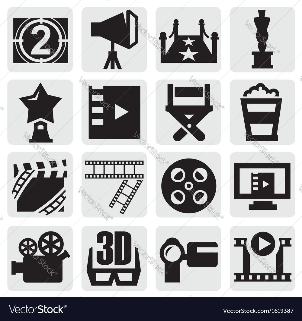 Movie icons vector