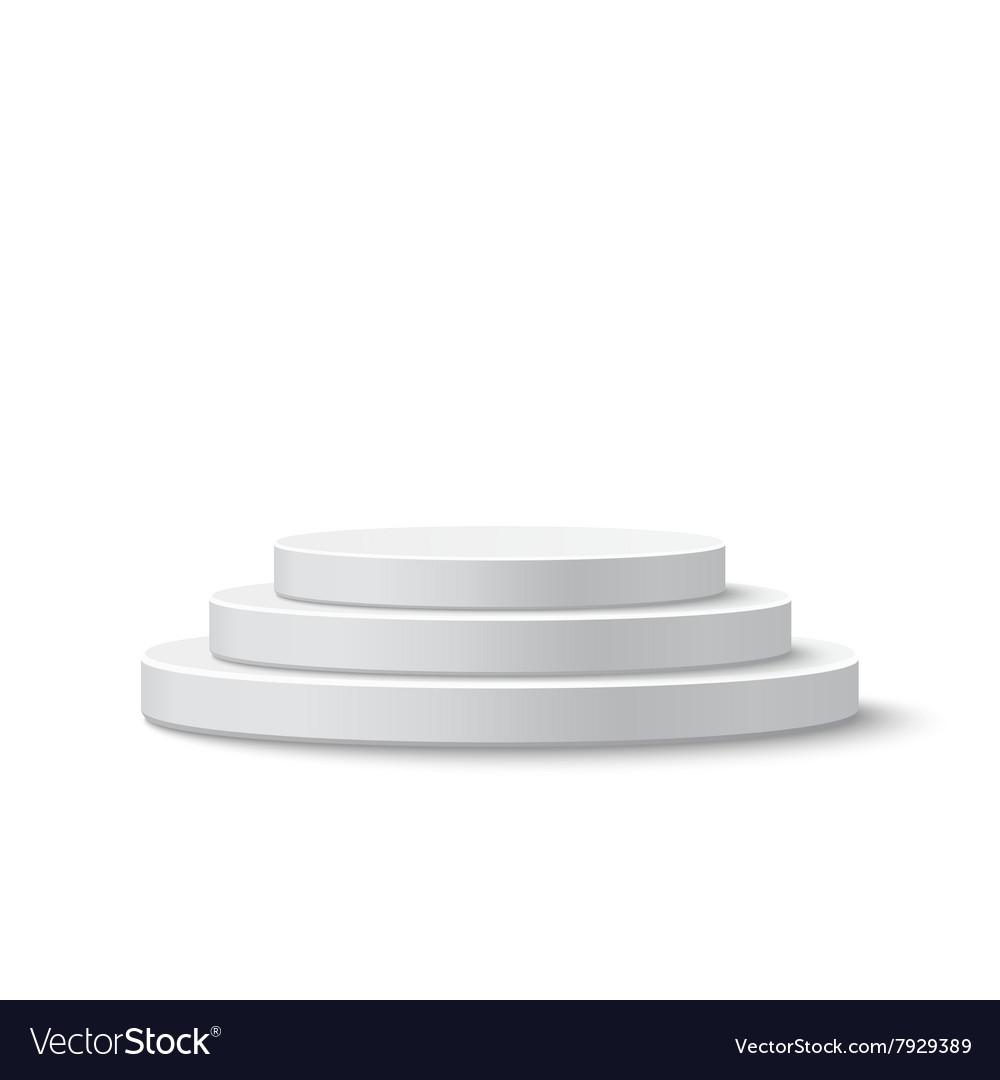 Round stage podium vector