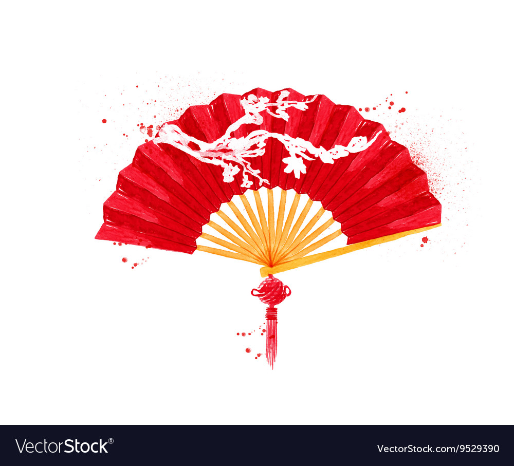 Chinese symbols fan vector