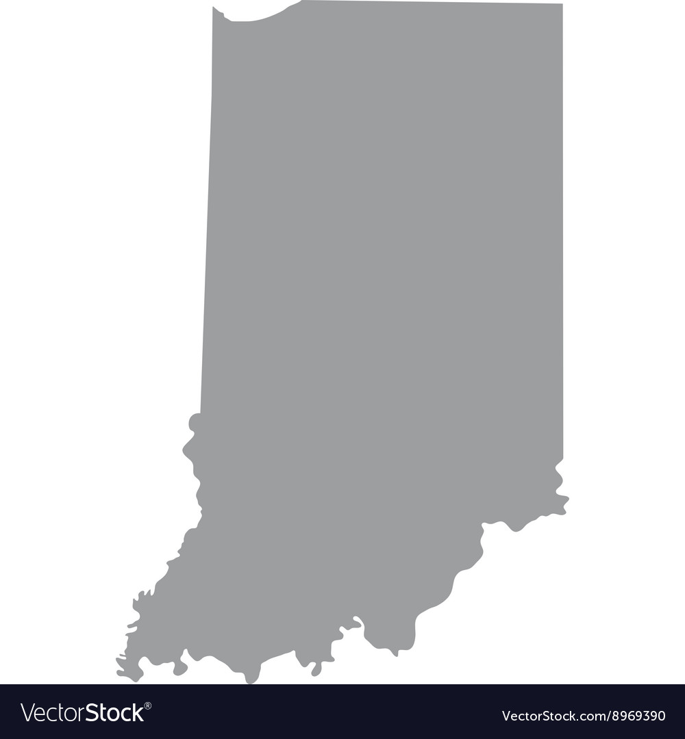 Map of the us state of indiana vector