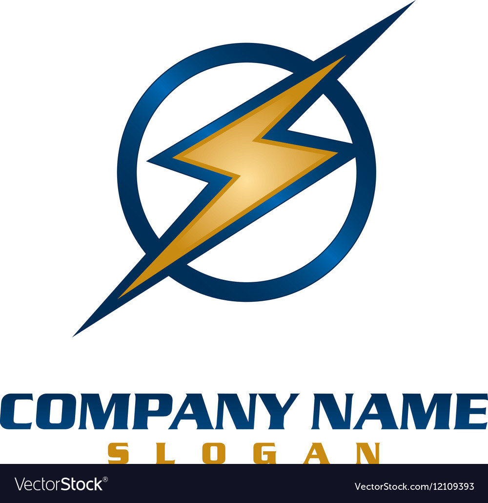 Electrical company logo vector