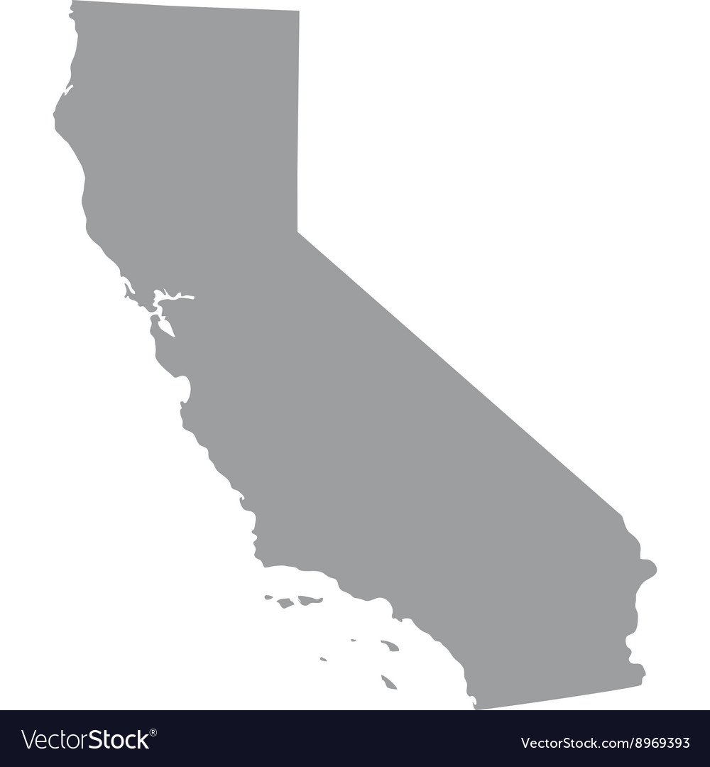 Map of the us state of california vector