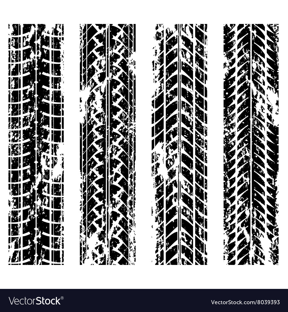 Tire tracks grunge vector