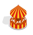 Carousel Isometric View vector image