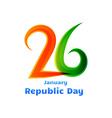 26th republic day celebration design vector image