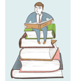 Businessman reading vector image vector image