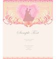 Ballroom wedding couple dancers - invitation card vector image vector image
