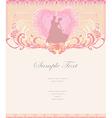 Ballroom wedding couple dancers - invitation card vector image