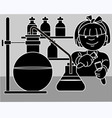 girl research vector image vector image