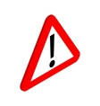 Warning sign icon isometric 3d style vector image vector image