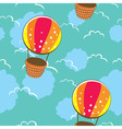 bright seamless pattern with colorful balloons vector image