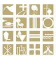 Christian religious icons vector image