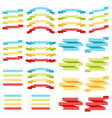 colorful ribbons and labels eps 10 vector image