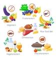 Food diet types vector image