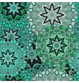 Green seamless design in oriental style Stellar vector image